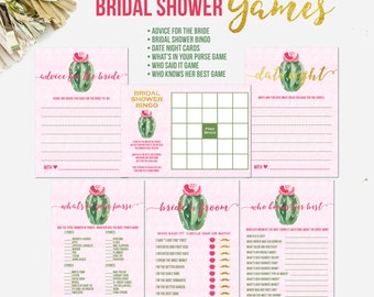Fiesta Bridal Shower Games, Cactus Bridal Shower Games, Bridal Shower Games, Game Cards, Bridal Shower Game Cards, Bridal Shower Activities