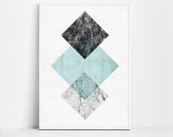 Geometric art Digital Art Prints Wall Art Prints Posters Geometric Prints Digital Print Digital Download Modern Art Abstract Prints