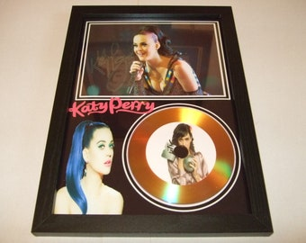 katy perry  signed disc display
