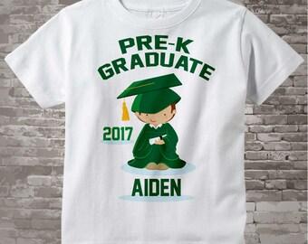 Boy's Personalized Pre-Kindergarten Pre-K Graduate Shirt Graduation Shirt Child's Back To School Shirt 05142014f