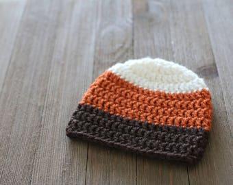 Newborn Crochet Beanie, Fall Baby Beanie, Newborn Photography Prop, Baby Photo Prop, Fall Baby Hat, Fall Photo Prop, Crochet Baby Hat