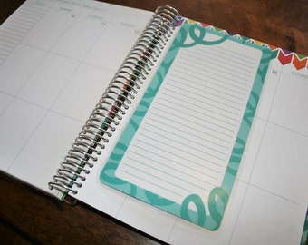 Dashboard (Size B), Coil Clip In, Laminated, Double Sided  / Erin Condren Life Planner, Recollections, Limelife, Plum Paper (B04)