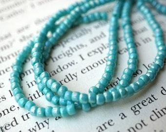 Opaque Turquoise, Seed Beads, Toho Beads, N413