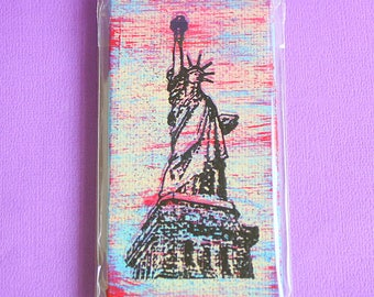 The Statue of Liberty Mini Canvas Magnet - Two by Four Inch