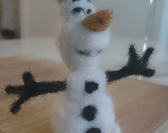 Needle Felted Olaf Frost