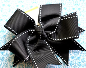 All Stitched Up...Black XL Diva Bow