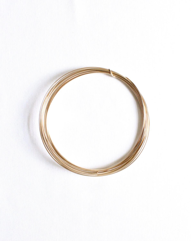 3 Feet - 16 Gauge - 14k Gold Filled Wire - Half Hard Round Wire ...