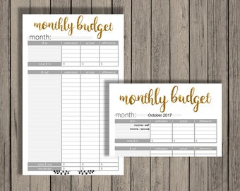 Editable budget planner, Editable monthly budget printable, budget printable, editable printable, budget planner, monthly budget printable.