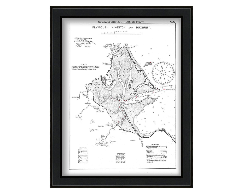 0449 plymouth kingston duxbury ma nautical chart by zoom nvjuhfo Gallery