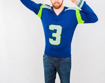 Seattle inspired #3 Jersey Sweater