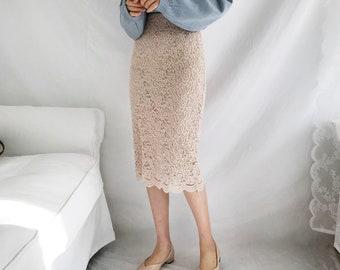 Romantic lace skirts, lace skirts,bridal skirts,bridesmaid lace skirts,Banding skirts,plus size skirts,midi lace skirts,elegant skirt