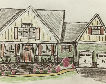 Hand drawn homes with hand lettering