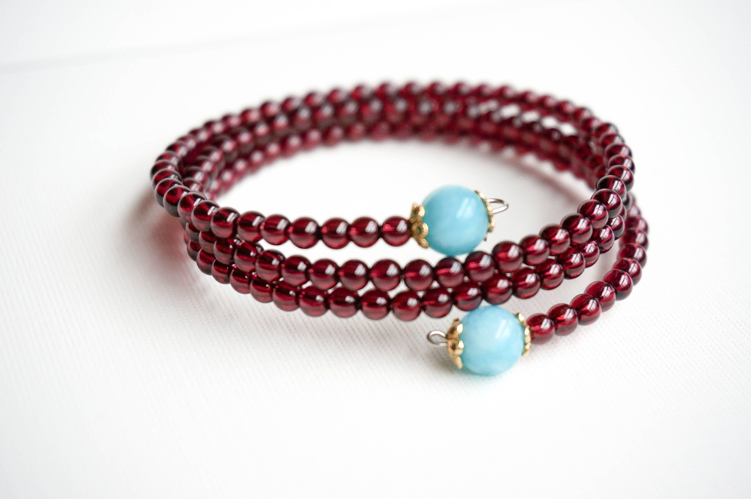 red armlet women for plated product handmade bracelet garnet in silver brass sterling