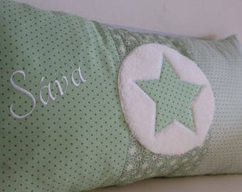 Pillows personalized with stern application and name