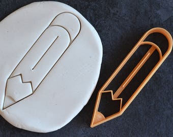 Pencil cookie cutter - Back to School Cookie Cutter - Kindergarten, Pre-K cookie cutter - Teacher cookie cutter -Appreciation day