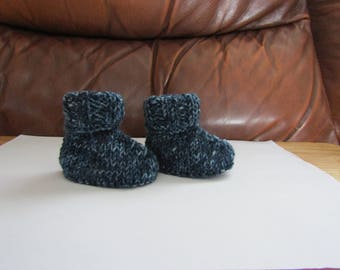 Baby Huggy Boots. Blue. 0-3months