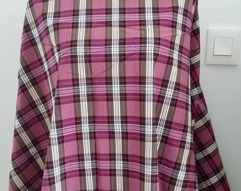 Purple plaid fabric