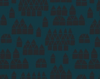 Maker Maker Village Fabric in Blue (ALN-8458-B) - HALF Yard - by Sarah Golden for Andover Fabrics