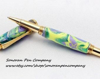 New Design Fleur de Lis Rollerball pen OR Fountain pen