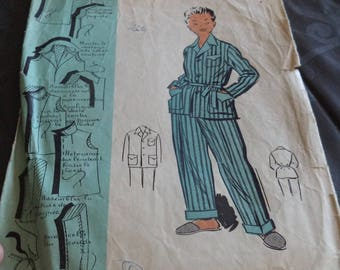 Vintage Pajama pattern size 8 to 10 years of use