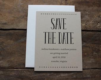 Modern Save the Date Wedding Invitation / Rustic Save the Date / Calligraphy Save the Date / Magnet Invitation