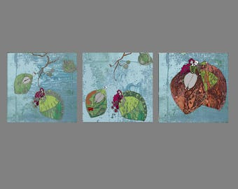 Triptych leaves love