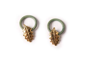 Vintage Moschino Cheap and Chic Leaf Clip On Earrings