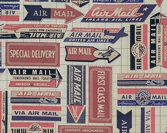Neutral Eclectic Elements  by Coats and Clark and Tim Holtz PWTH041-8RED Red Air Mail