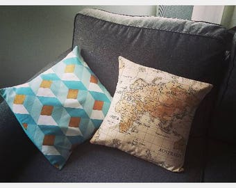 "Handmade pillow cover ""card"""