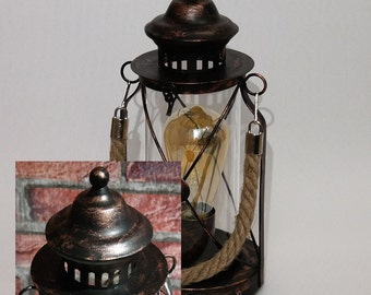 Lamp color: bronze table lamp vintage lamp retro