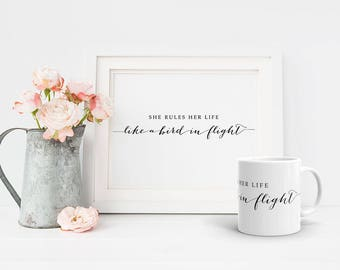 PRINTABLE Art Stevie Nicks Rhiannon Lyrics Print, 16x20 8x10 Calligraphy Inspirational Poster, Fleetwood Mac Gifts Boho Wall Art Download
