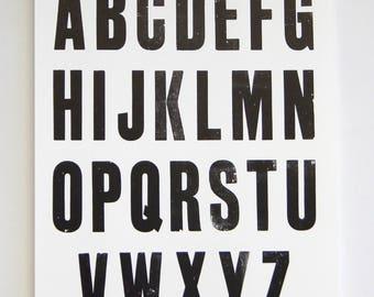 Type Specimen Sheets (5) Large Letterpress Print
