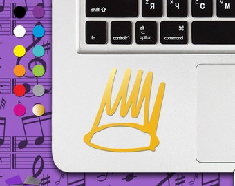 j cole crown, j cole crown decal, j cole crown sticker, j cole, king cole, Jay Z decal, Rick Ross decal, Drake decal, macbook decal