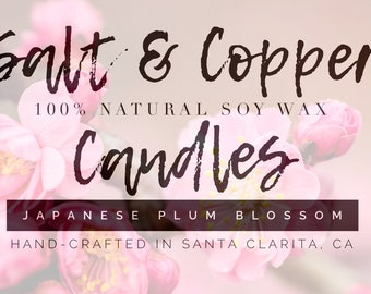 Japanese Plum Blossom 8oz mason jar