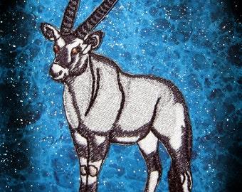 Oryx Gemsbok Gemsbuck Antelope Oryx Iron on Patch