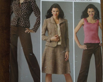 Simplicity 4500, sizes 6-14, misses, petite, camisole, skirt, pants, lined jacket, UNCUT sewing pattern