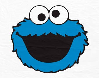Cokkie Monster Svg, Cookie Monster, head, Sesame Street, cutting file, cricut, silhouette, svg, dxf, png, jpg
