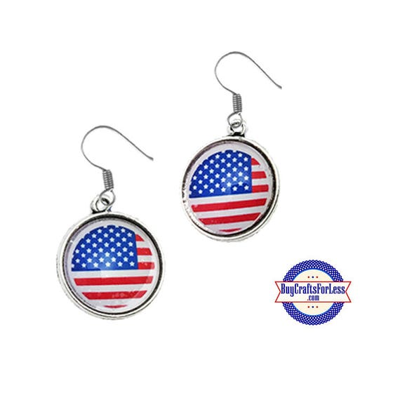 PATRiOTiC, July 4th, USA Flag EARRiNGS +FREE SHiPPiNG & Discounts*