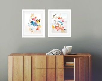 Abstract painting, watercolor, modern art, wall art, watercolor original, abstract art, wall decor, home decor, colorful art