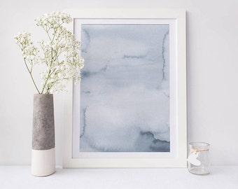 Printable abstract art, watercolour wall art, abstract print, blue watercolour print, watercolour art, abstract art, home decor