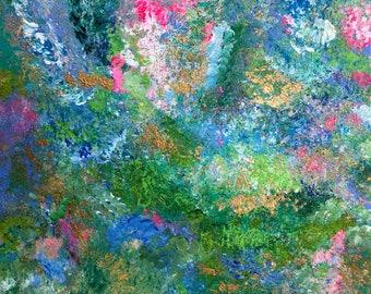 "Abstract Painting Original Modern Fine Art, 9"" x 12"" Contemporary Home Decor"