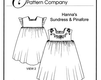 Hanna's Sundress & Pinafore sewing pattern by Trudy Horne/Collars, Etc. Pattern Co.