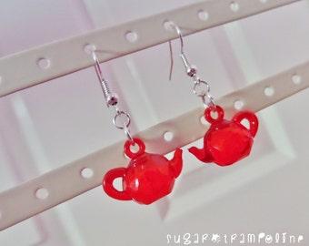 Translucent Teapot Kawaii Earrings