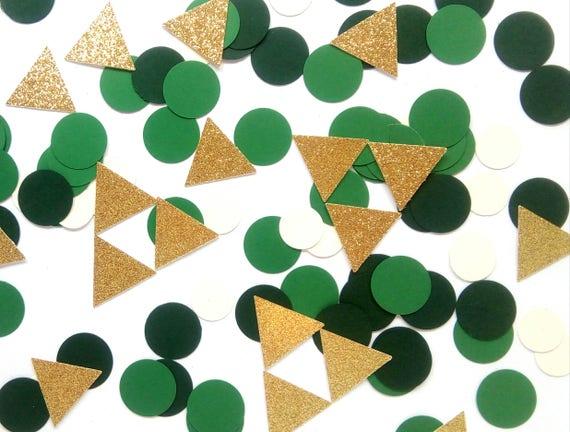 La leyenda de Zelda inspirado fiesta confeti confeti de oro