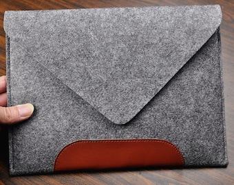 "Leather Macbook pro Laptop case,15 "" Felt Macbook pro retina sleeve, 15"" Macbook felt sleeve, Macbook pro cover, Christmas gifts, 1J106"