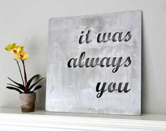 Custom Metal Quote Sign and Sayings, Inspirational Personalized Sign, Steel Wall Art Decor Medium Size