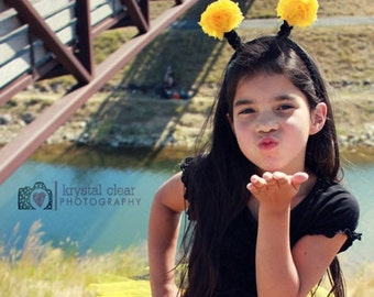 BUMBLE BEE Costume Headband Only, Bumble Bee Favors, Bumble Bee Birthday