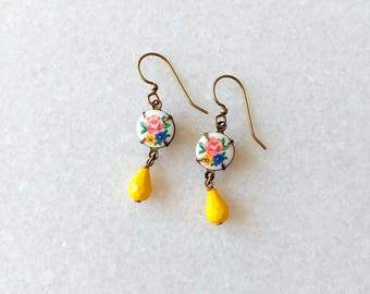 Yellow Earrings - Lemon Earrings - Citrus Earrings - Summer - Rosie II Earrings (SD1266)