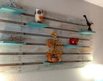 Rustic Modern Slatted Wall Shelves - MADE TO ORDER 90 days
