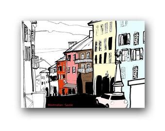 """Postcard """"Montmélian"""" Savoy"""